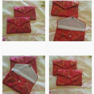 Bundle of 4 small Oriental makeup/coin purses